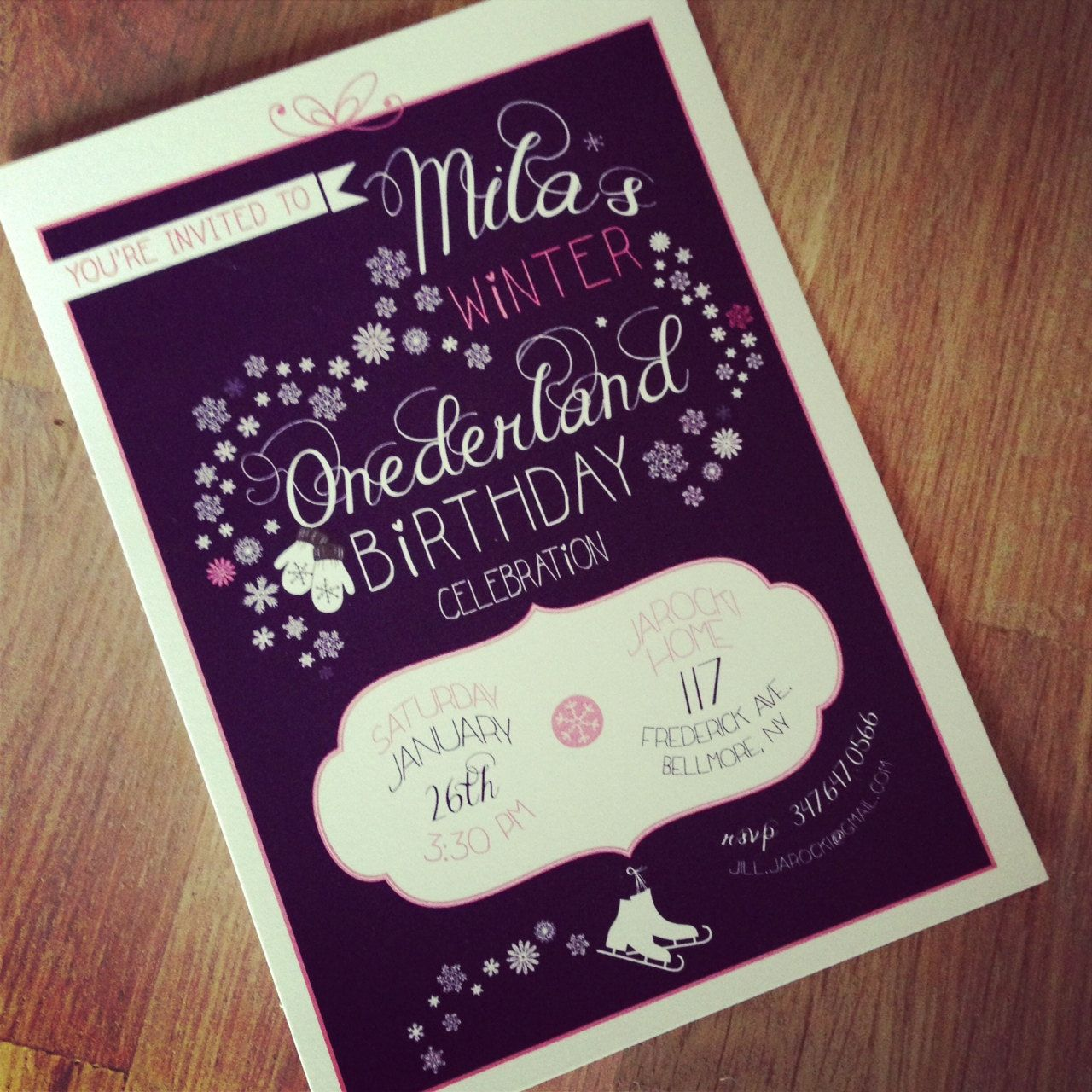 Printable Winter Wonderland 1st Birthday Invitation by simplegd ...