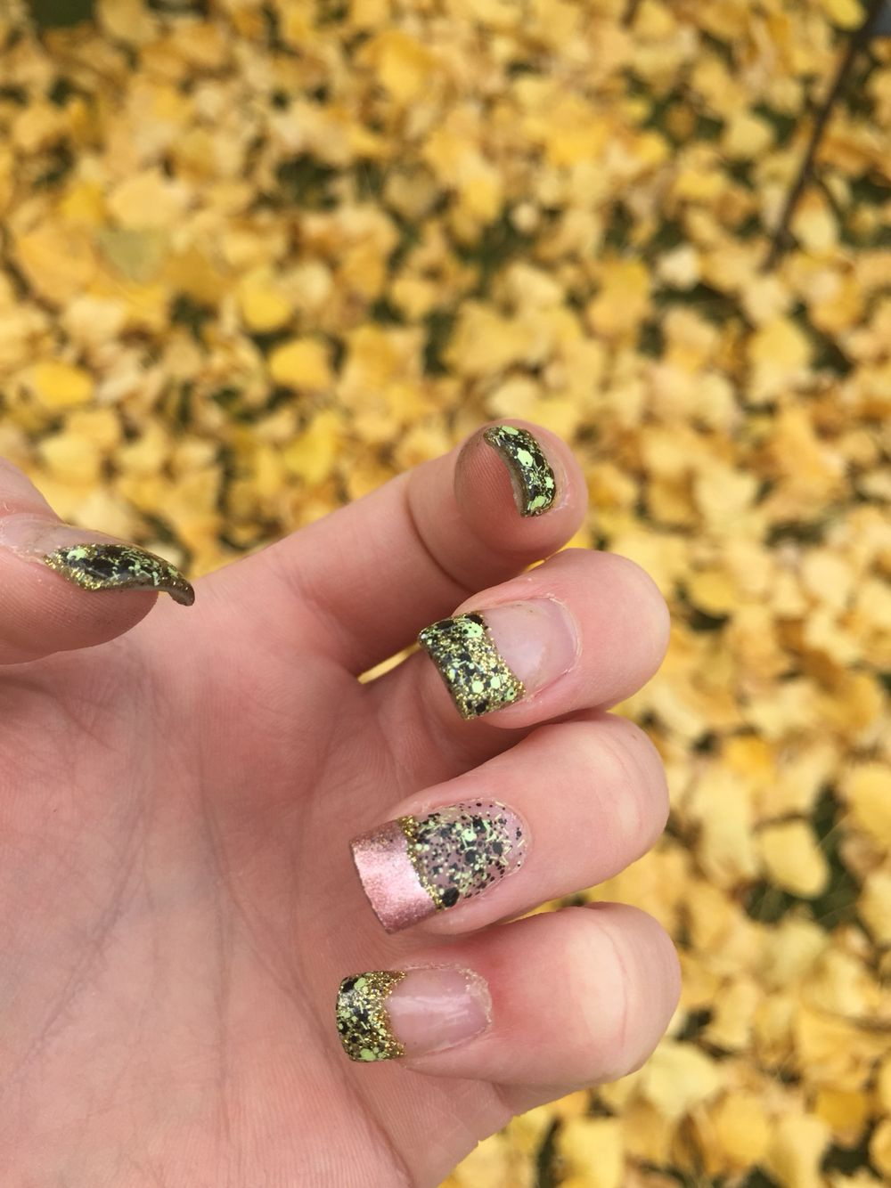 My fall nails:) done by yours truly