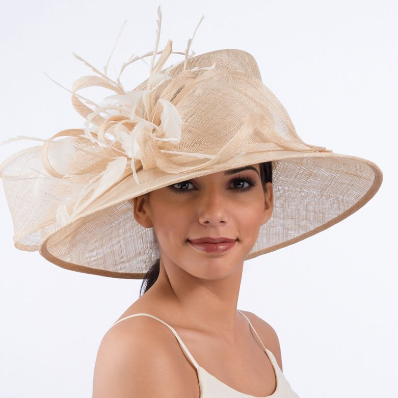 cec376f4 Natural colored Sinamay church hat   My Style in 2019   Hats ...