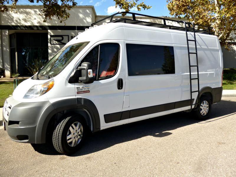 Aluminum Off Road Roof Rack And Ladder For The Dodge Promaster Van Diy Van Camper Build A Camper Van Caravan Van