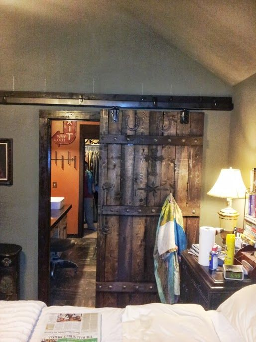 Hung With A Farm Door Hardware From Tractor Supply Http Www Pinterest Com Takecouponss Tractor Supp Barn Doors Sliding Wood Doors Interior Inside Barn Doors
