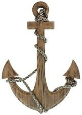 Wooden Anchor Rope Pirate Ship Boat Nautical Maritime Wall Hanging Home Decor