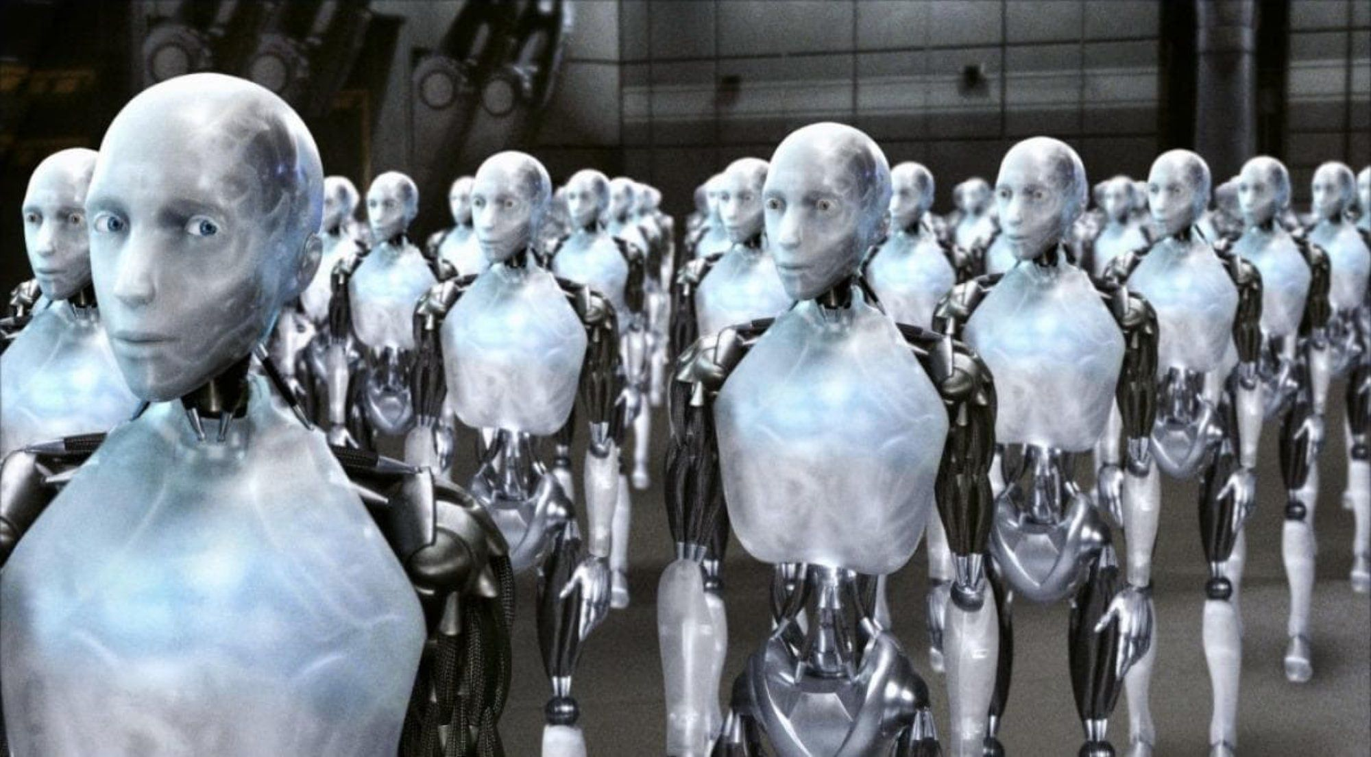 A Scene From the 2004 Science Fiction Film, 'I,Robot'