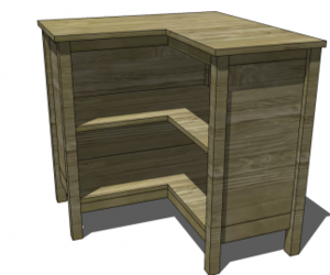 Free Diy Furniture Plans To Build A Pottery Barn Kids Inspired Cameron Corner Bookcase Home