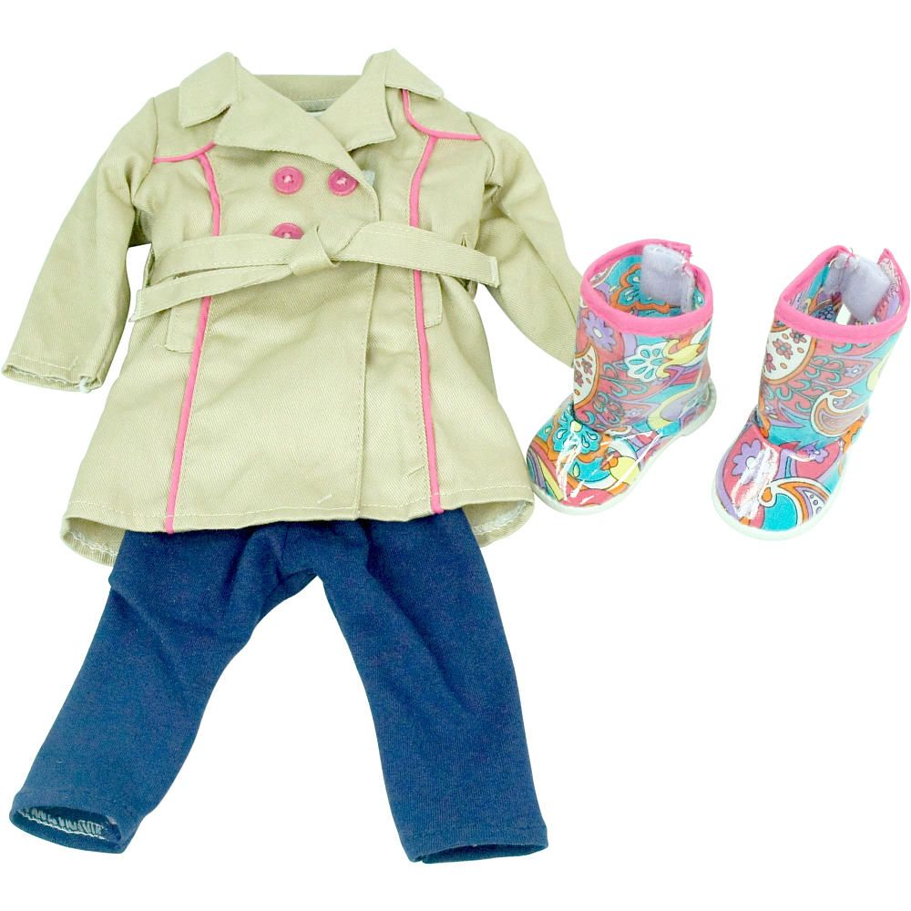 "Journey Girls 18 inch Doll Fashion Outfit - Flower Top with Jeans - Toys R Us - Toys ""R"" Us"