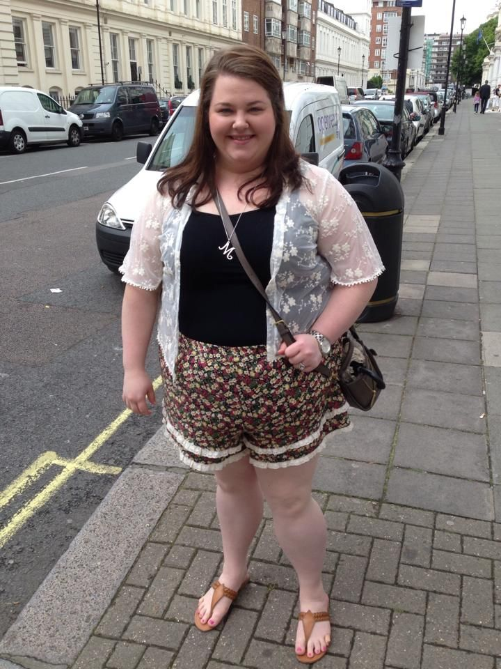 Plus Size OOTD: High Waisted Floral Shorts feat. Forever 21 ...