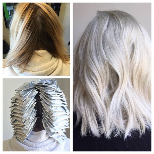 Transformation From Box To Balayage Blonde To Platinum