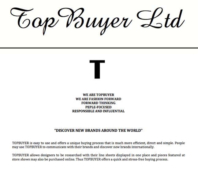 www.topbuyer.uk.com   Topbuyer LTD