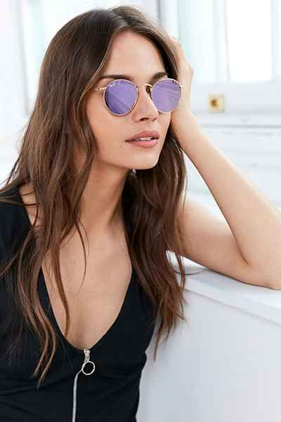 e30169a3be Ray-Ban Icon Metal Round Sunglasses - Urban Outfitters