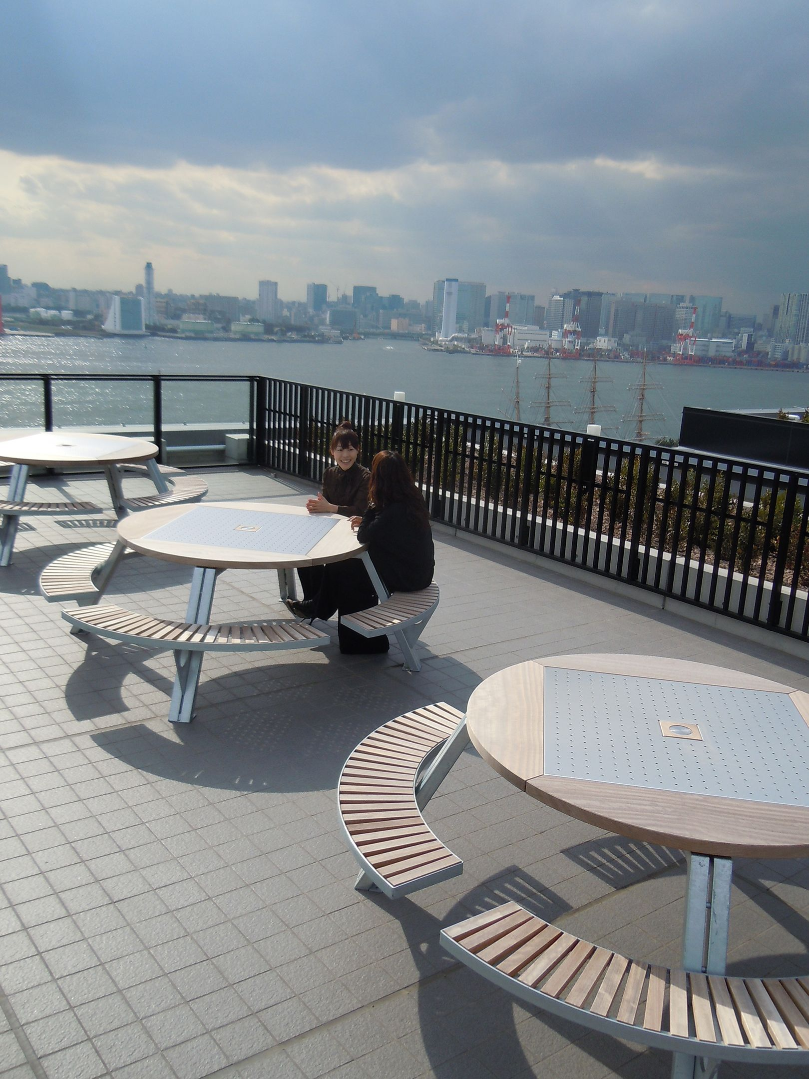 Gargantua is a large round outdoor table that offers superior