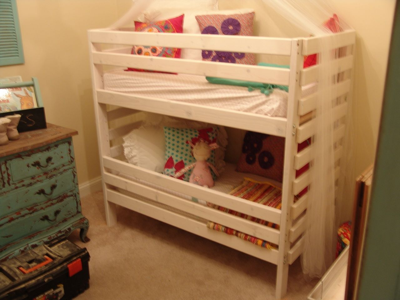 Toddler Bunk Bed Only 48 Tall And Designed To Use Crib Mattresses