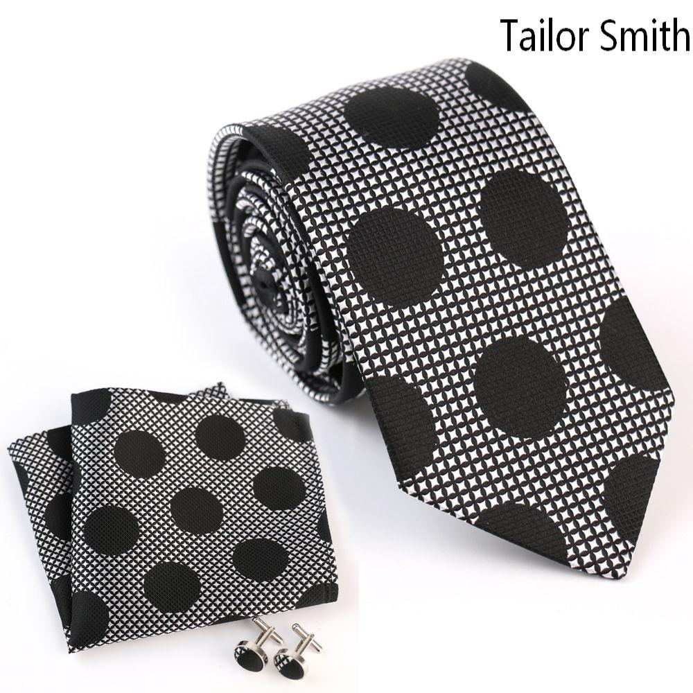 Click to buy ucuc tailor smith fashion designer polka dot tie pocket