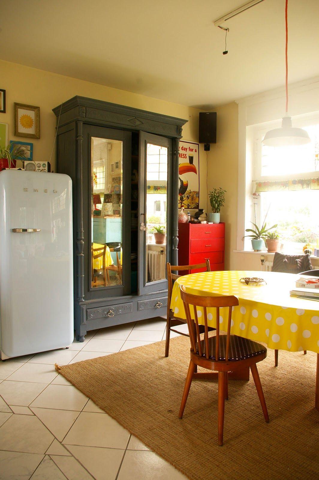 Id Meuble Lille tangerinette - armoire peinte en gris maison, smeg, table danish