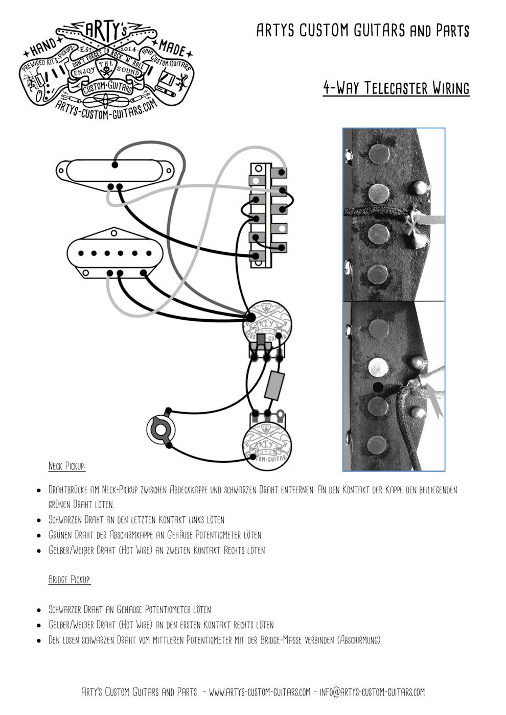 Arty's Custom Guitars Wiring Diagram Plan Telecaster