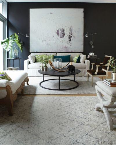Tour Elle Decor S Modern Life Concept House Contemporary Great Room Home Decor House Design Living room ideas elle decor