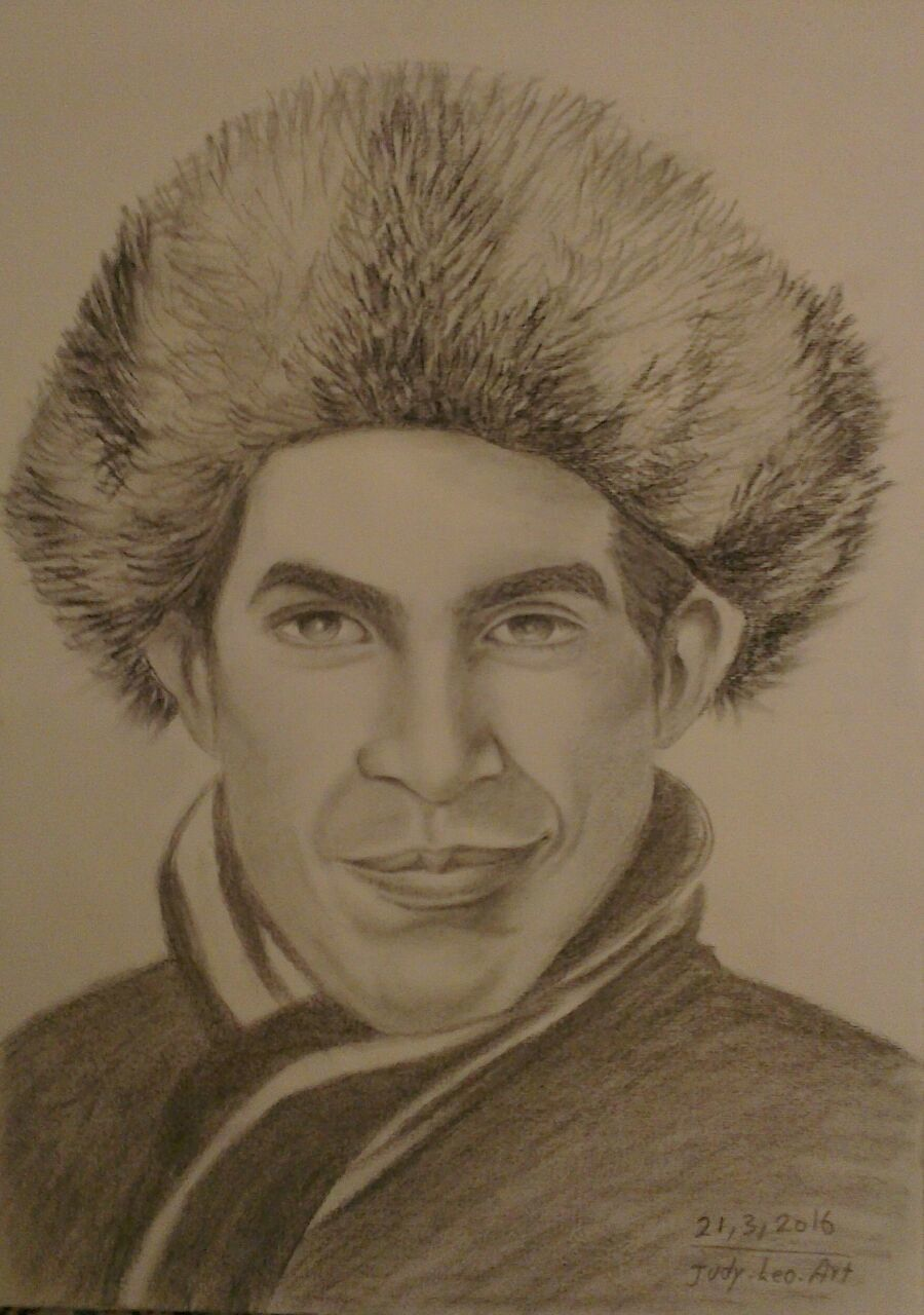 Smile ,,russian hat ,charcoal