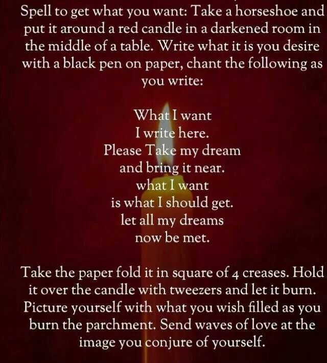 Spell To Get What You Want With Images Luck Spells Spelling