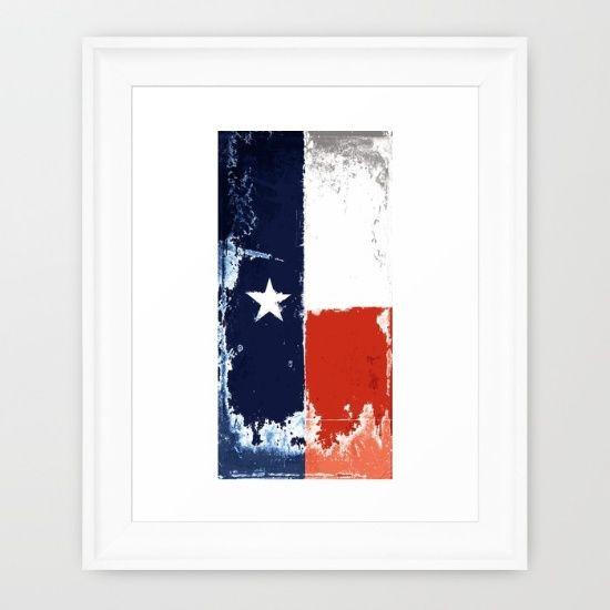 Texas flag Framed Art Print   Texas flags, Flags and Texas