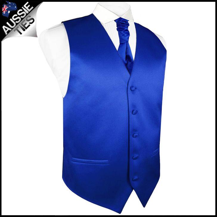 Mens Royal Blue Waistcoat Vest 36