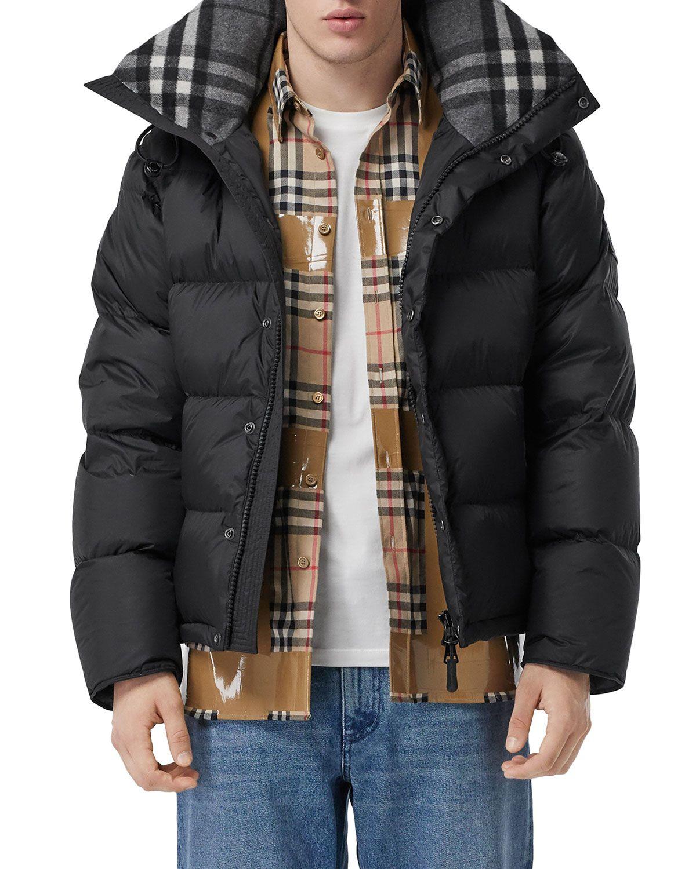 Men S Lockwell Quilted Puffer Jacket W Signature Check Trim In 2020 Quilted Puffer Jacket Down Puffer Coat Puffer Coat [ 1500 x 1200 Pixel ]