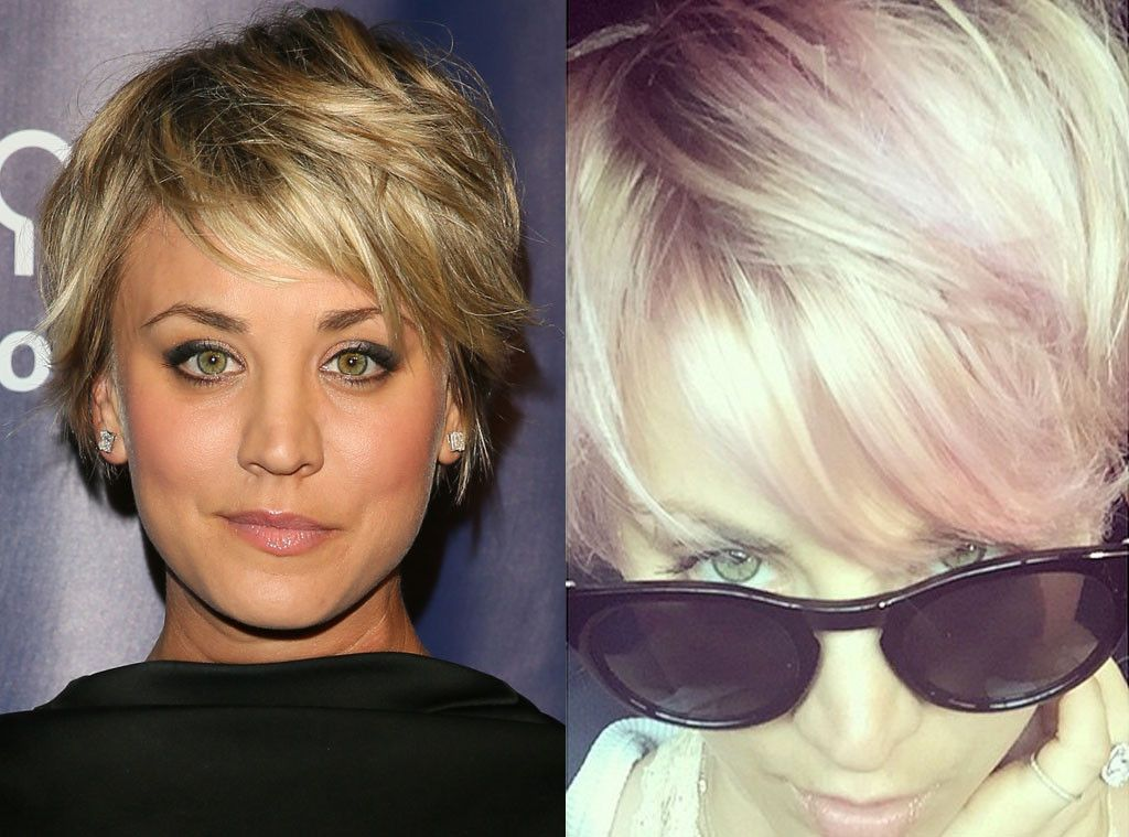 Kaley Cuoco Sweeting From Celebrities Changing Hair Color