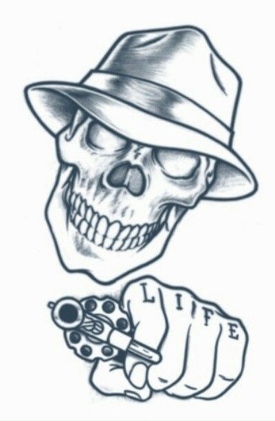 Pin By Luciano Flores On Drawing Gangster Tattoos Gangster Drawings Boog Tattoo