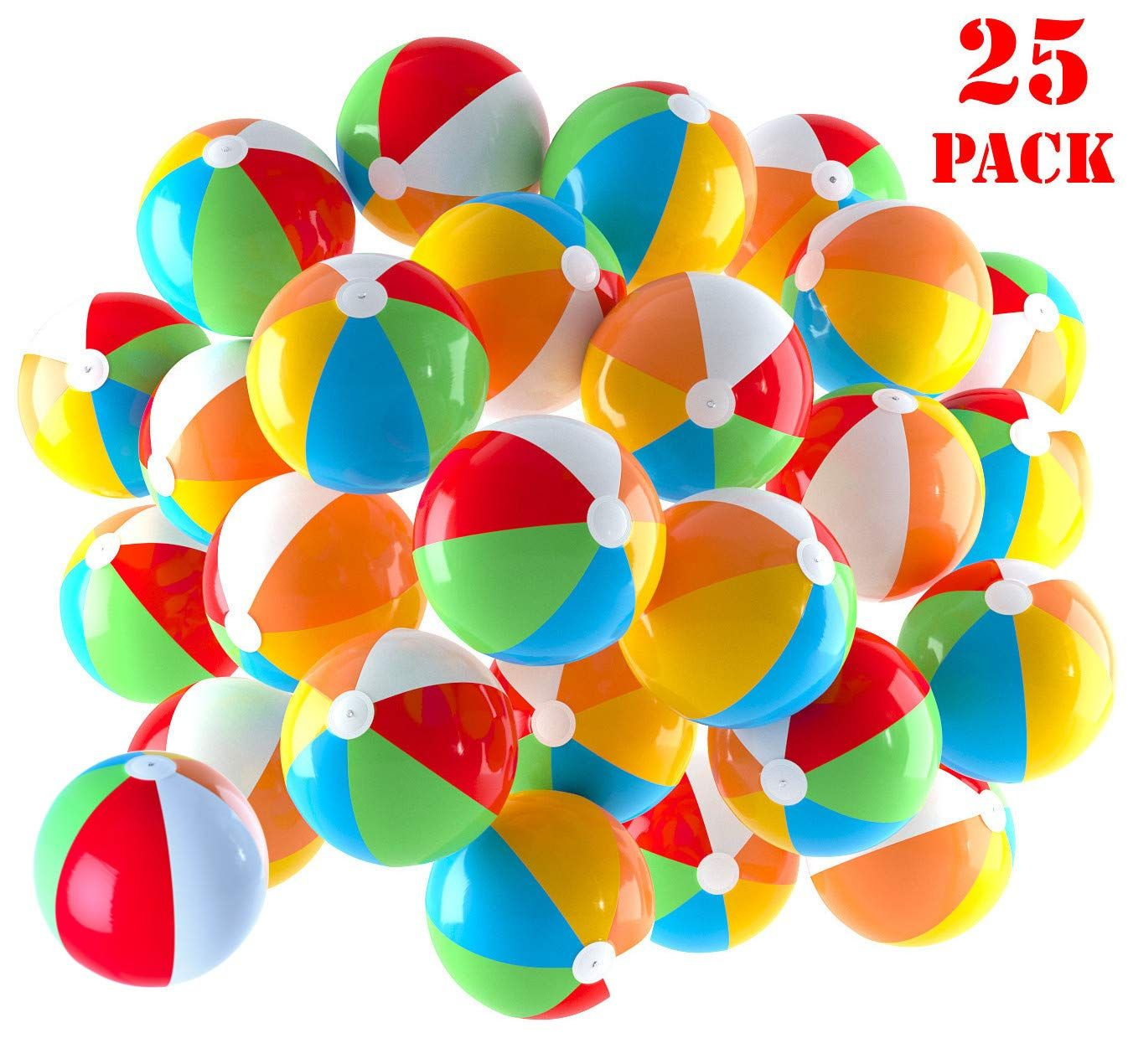 Inflatable Beach Balls 5 Inch For The Pool Beach Summer Parties