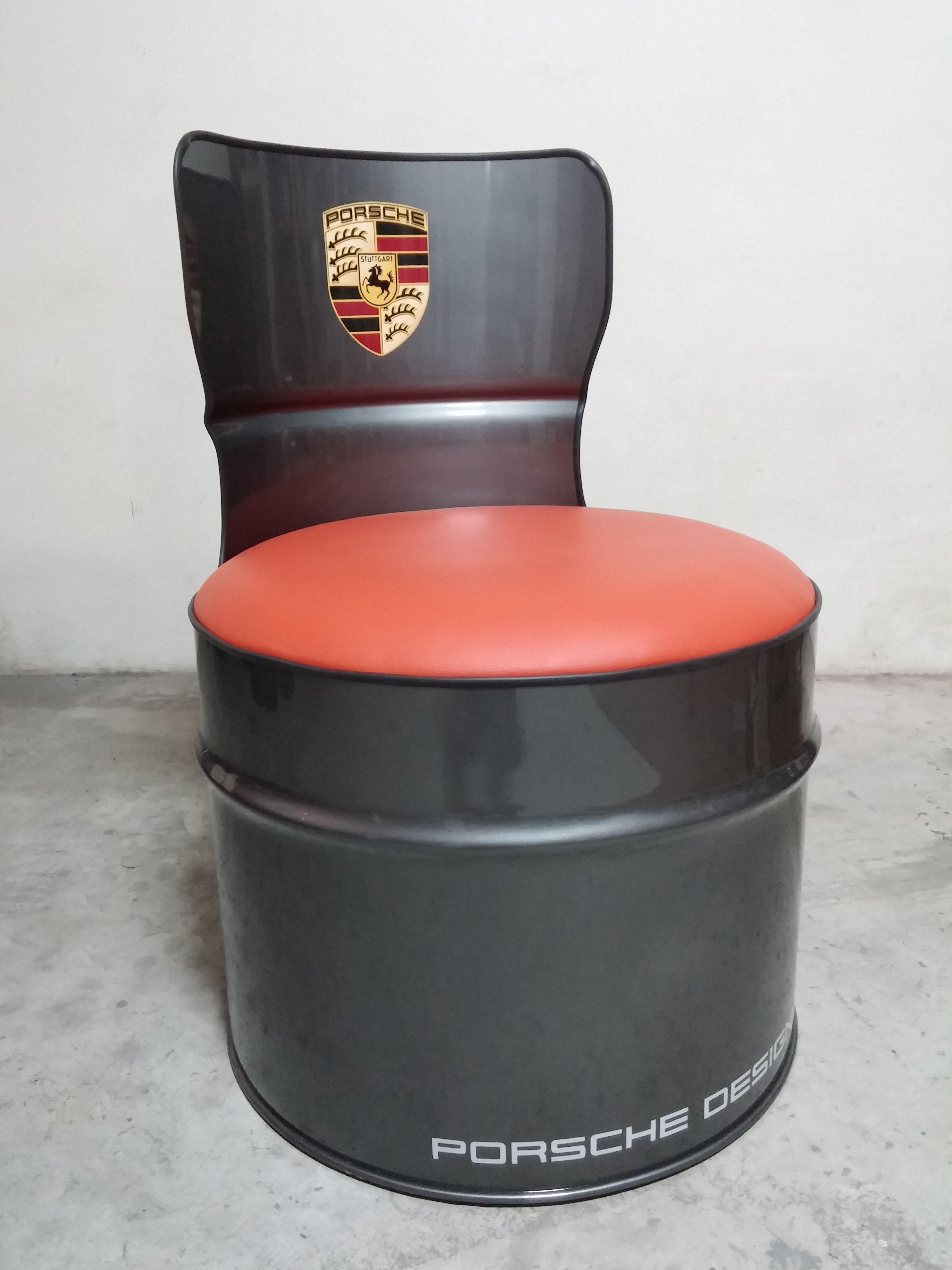oil drum seat porsche design | tonel decoração, decoracao de