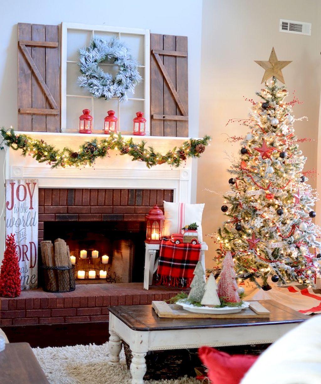 Gorgeous 70 Comfy Farmhouse Christmas Living Room