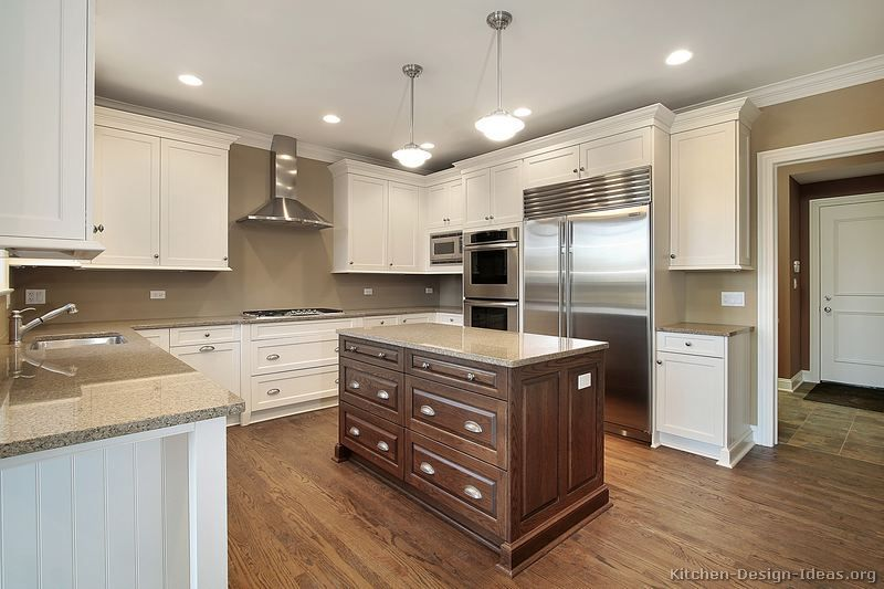 Merveilleux Kitchen Two Toned Kitchen Cabinets Doors Awesome If You Choose Two With  Regard To . Fabulous White And Walnut Two Tone Kitchen Cabinets Design  Inspirations