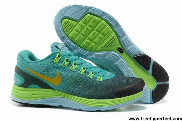 huge selection of 9bf98 6d682 ... usa new grey green blue glow yellow nike lunarglide 4 mens 524977 102  fashion shoes shop ...