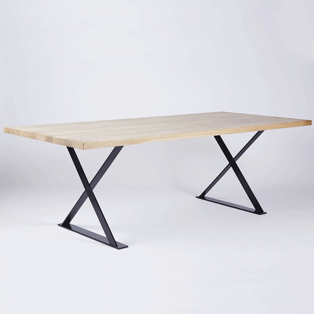 The Alexandria Dining Table Made From Solid American White Oak Timber And Wood Black Steel Legs Available In Our Online