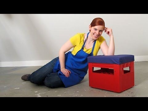 anleitung f r ein bierkasten hocker youtube diy. Black Bedroom Furniture Sets. Home Design Ideas