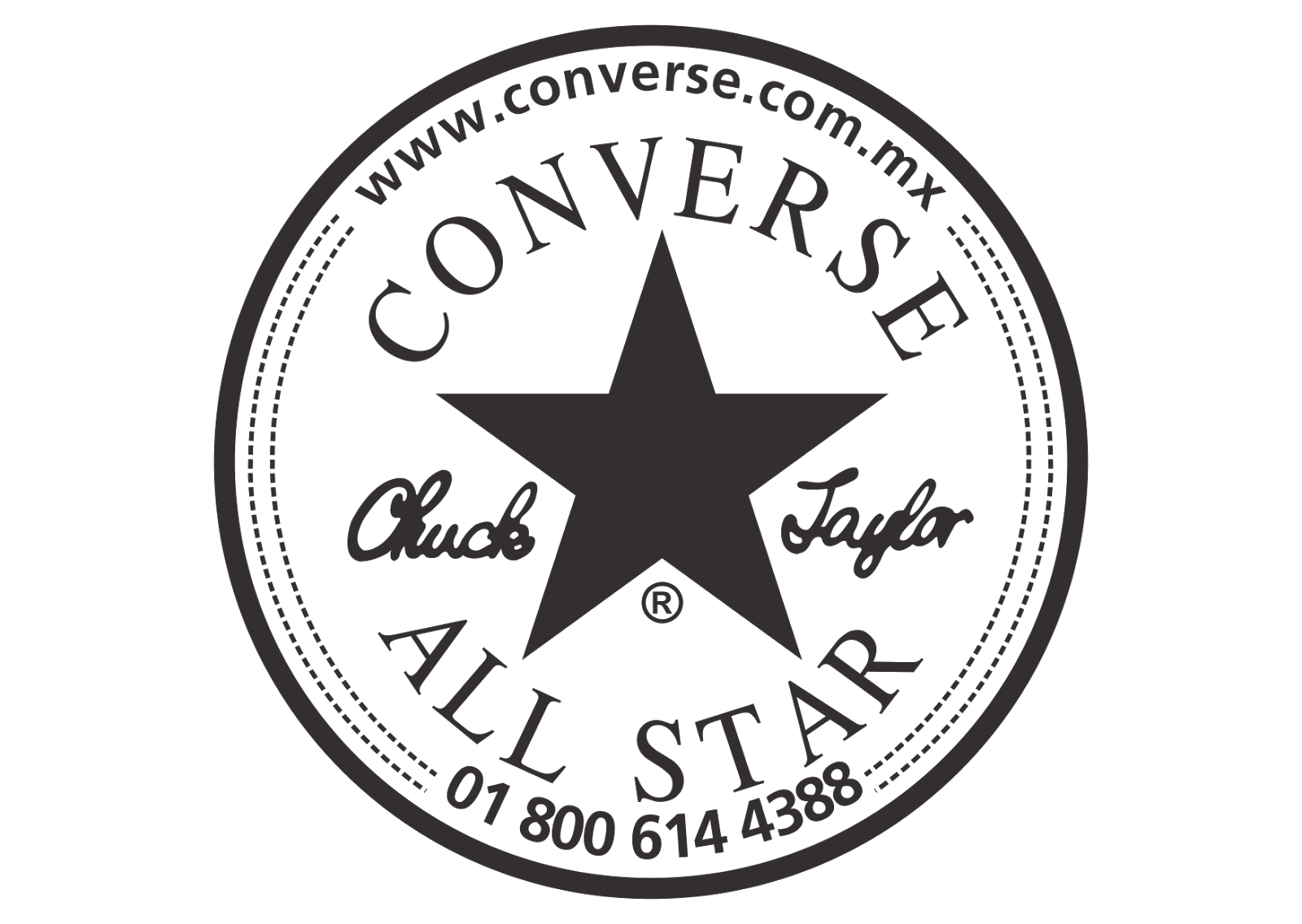 Coverse All Star Logo Vector (BlackWhite) Pegatinas