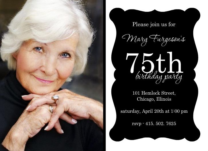 75th Birthday Invitations for keyword – 75 Birthday Card