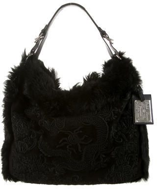 Ralph Lauren Collection Shearling Hobo