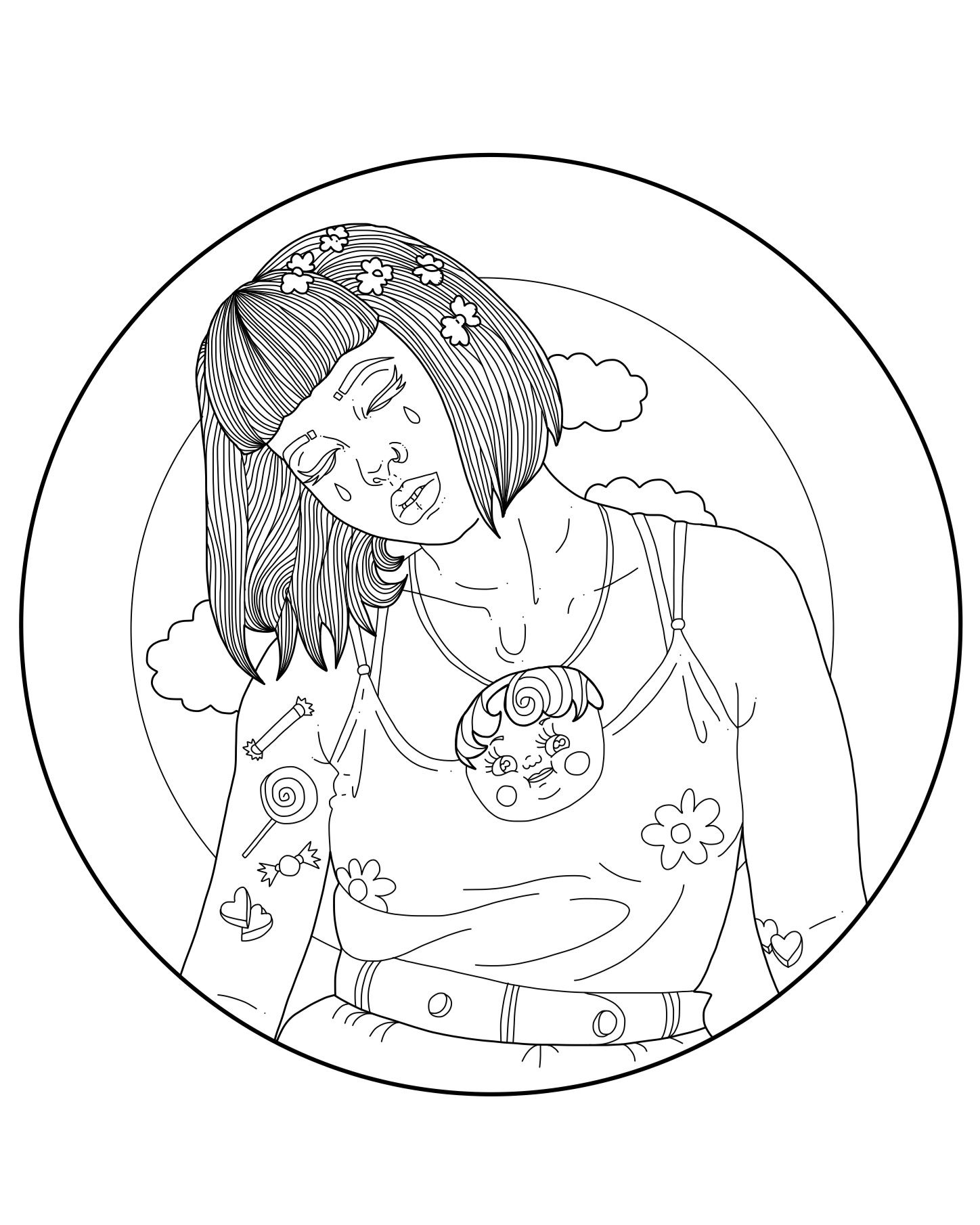 Melanie Martinez Coloring Pages Coloring Pages Melanie Martinez