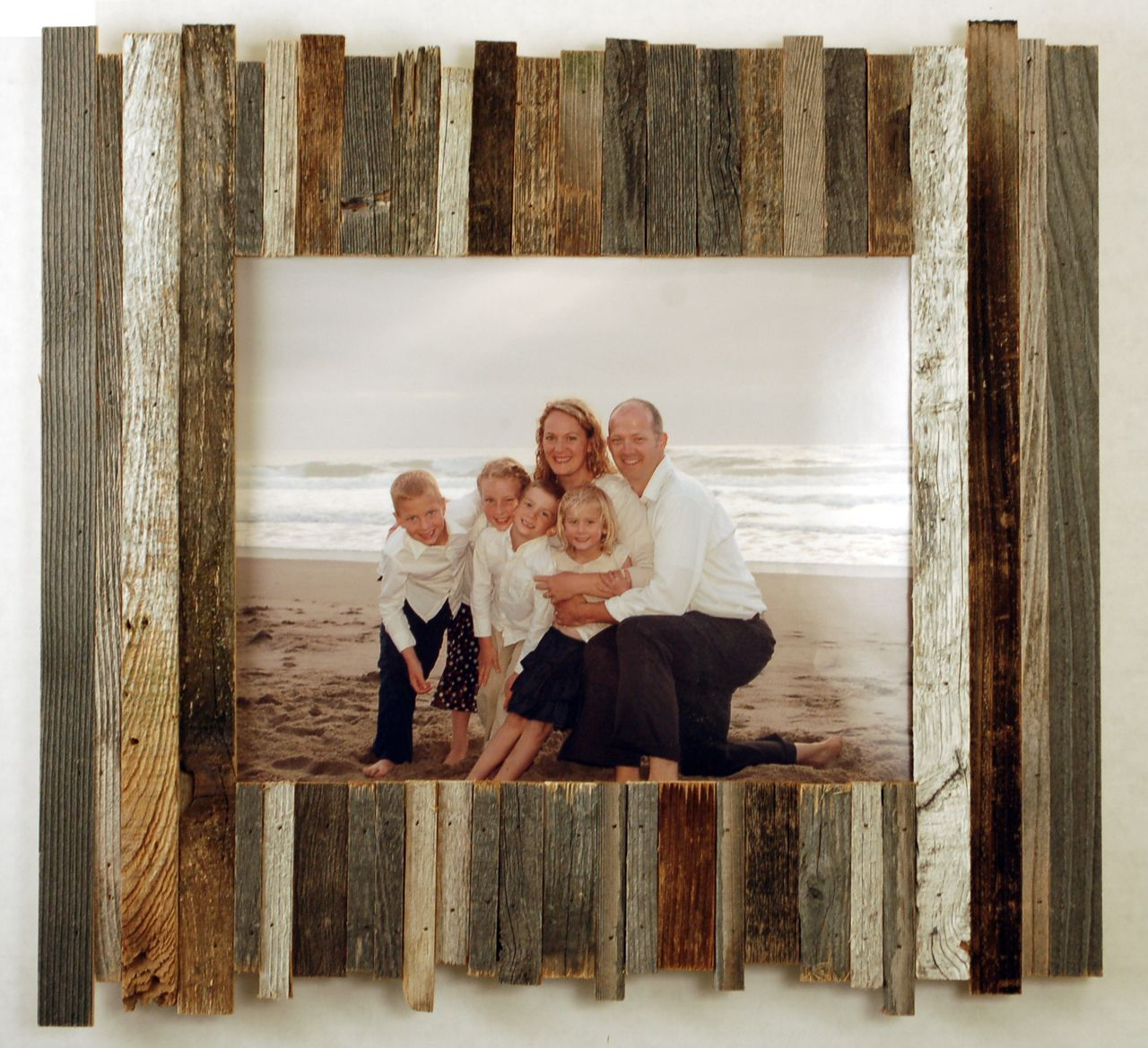 Beachcomber Reclaimed Wood Frame 11x14 Barn Wood Picture Frames Picture On Wood Reclaimed Wood Picture Frames