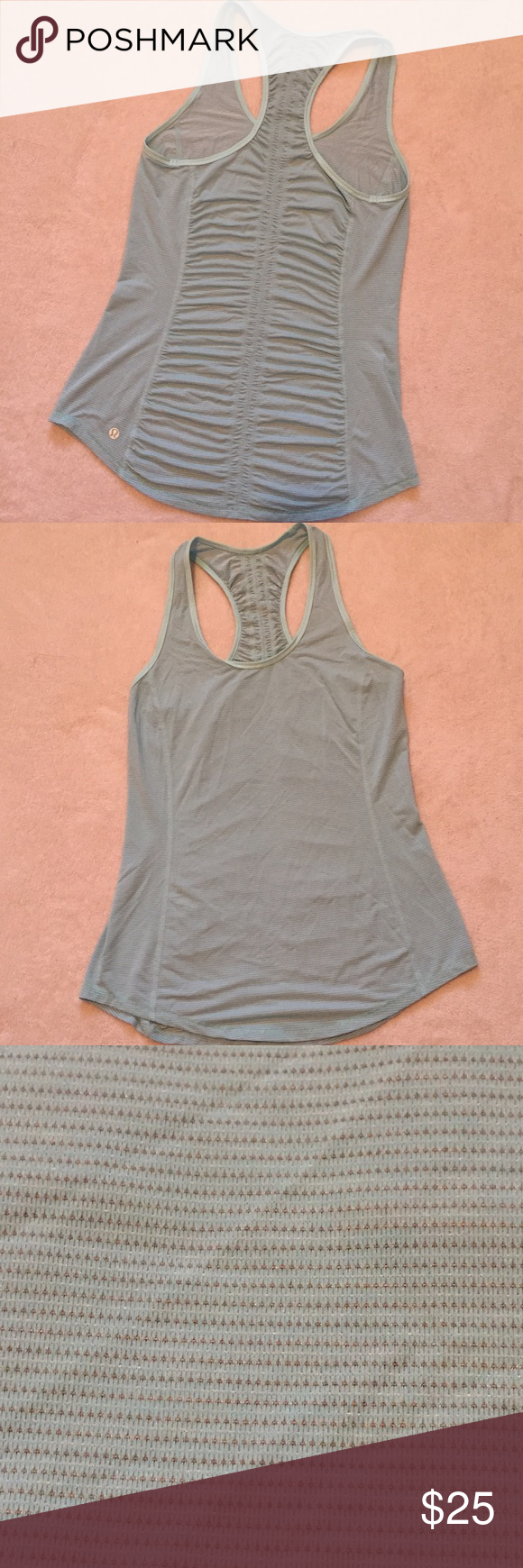 """lululemon athletica tank top ❤️️ Brand:  lululemon athletica  ❤️️Size: no tags, guessing a 6 or 8 based off my experience  ❤️️Color: light turquoise  ❤️️ Condition: like new ❤️️Measurements:   Total Length 26"""" Bust 14""""  💕Make an offer!💕 💕 Bundle 2+ items and save 30%!💕 lululemon athletica Tops Tank Tops"""