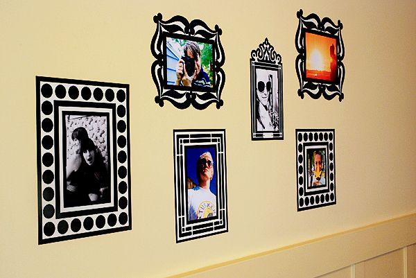 Re-Stickable Decal Photo Frames | Vinilos, Mamá y Papel