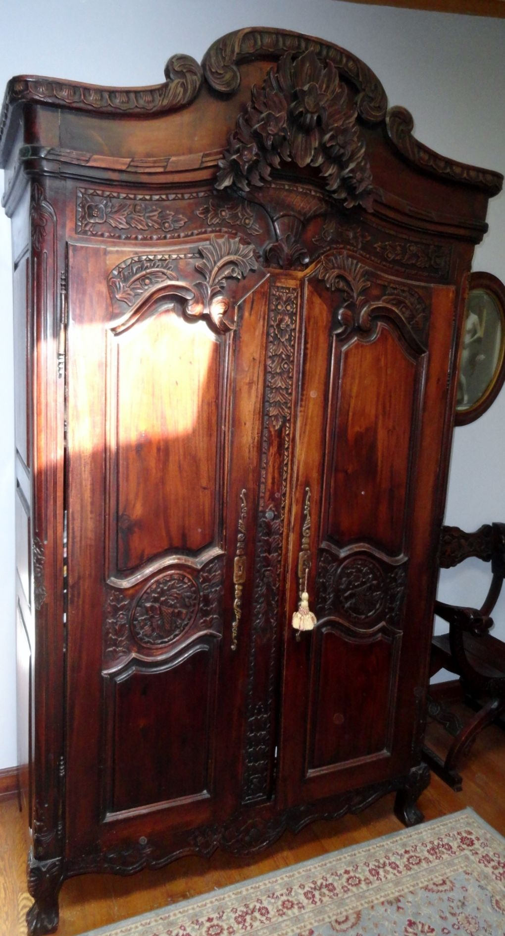 Incredible Antique Armoire In Crown City Estate Sale Www