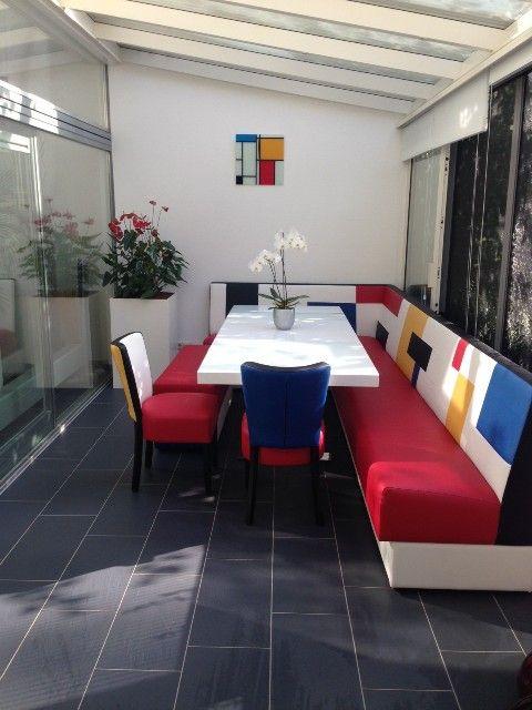 Hoekbank voor eetkeuken Eettafel Eetkamer stoelen | Complete ...