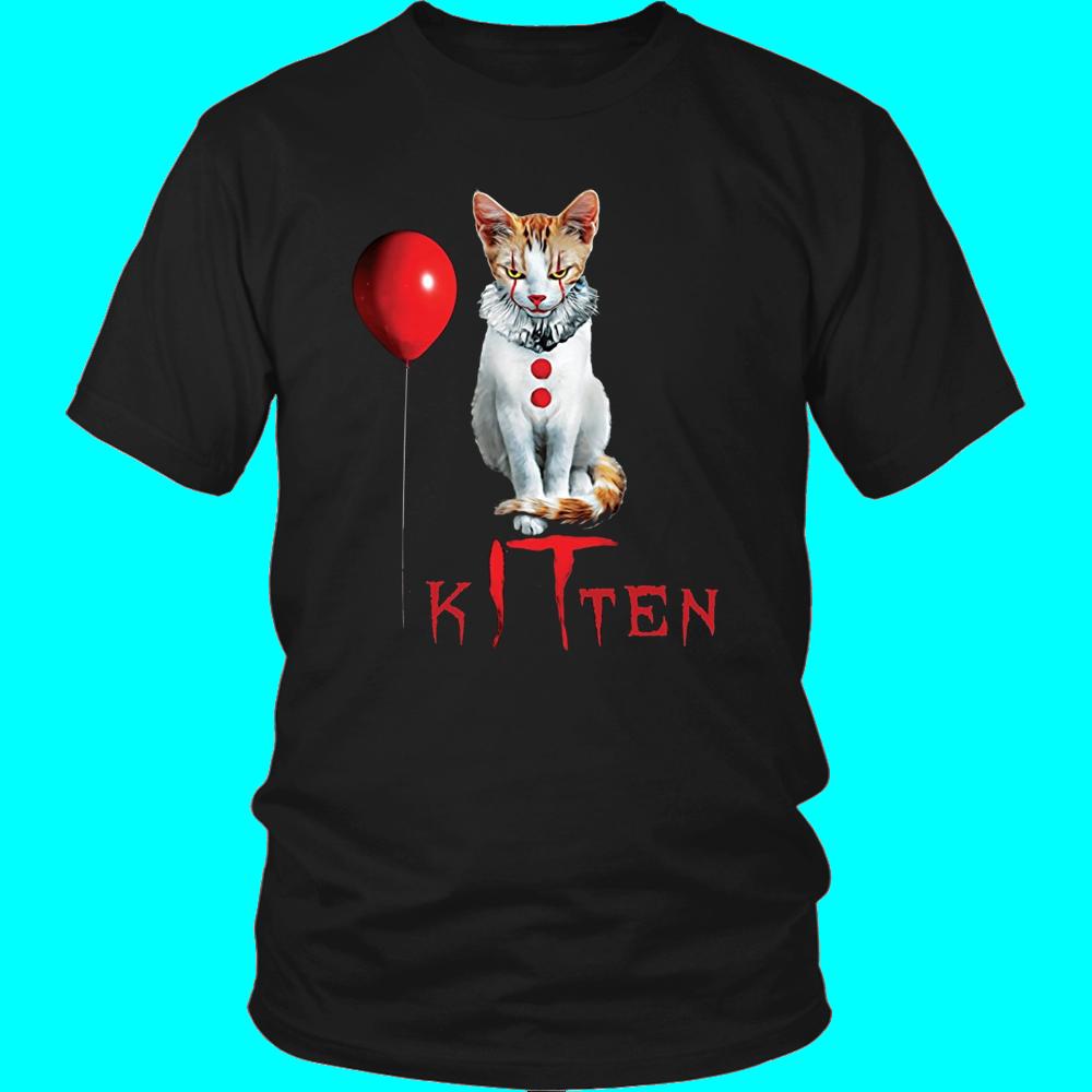 Clown Cat Kitten It Halloween T Shirt Teefim Halloween Tee Shirts Halloween Tshirts T Shirt