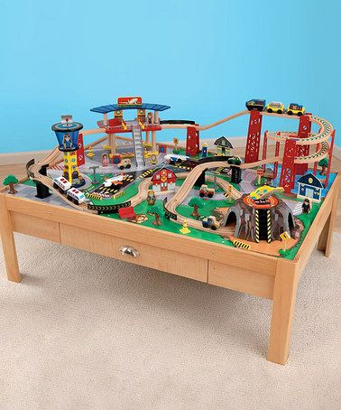 Airport Express Train and Table set from KidKraft on @zulily! : kidkraft train table with storage  - Aquiesqueretaro.Com