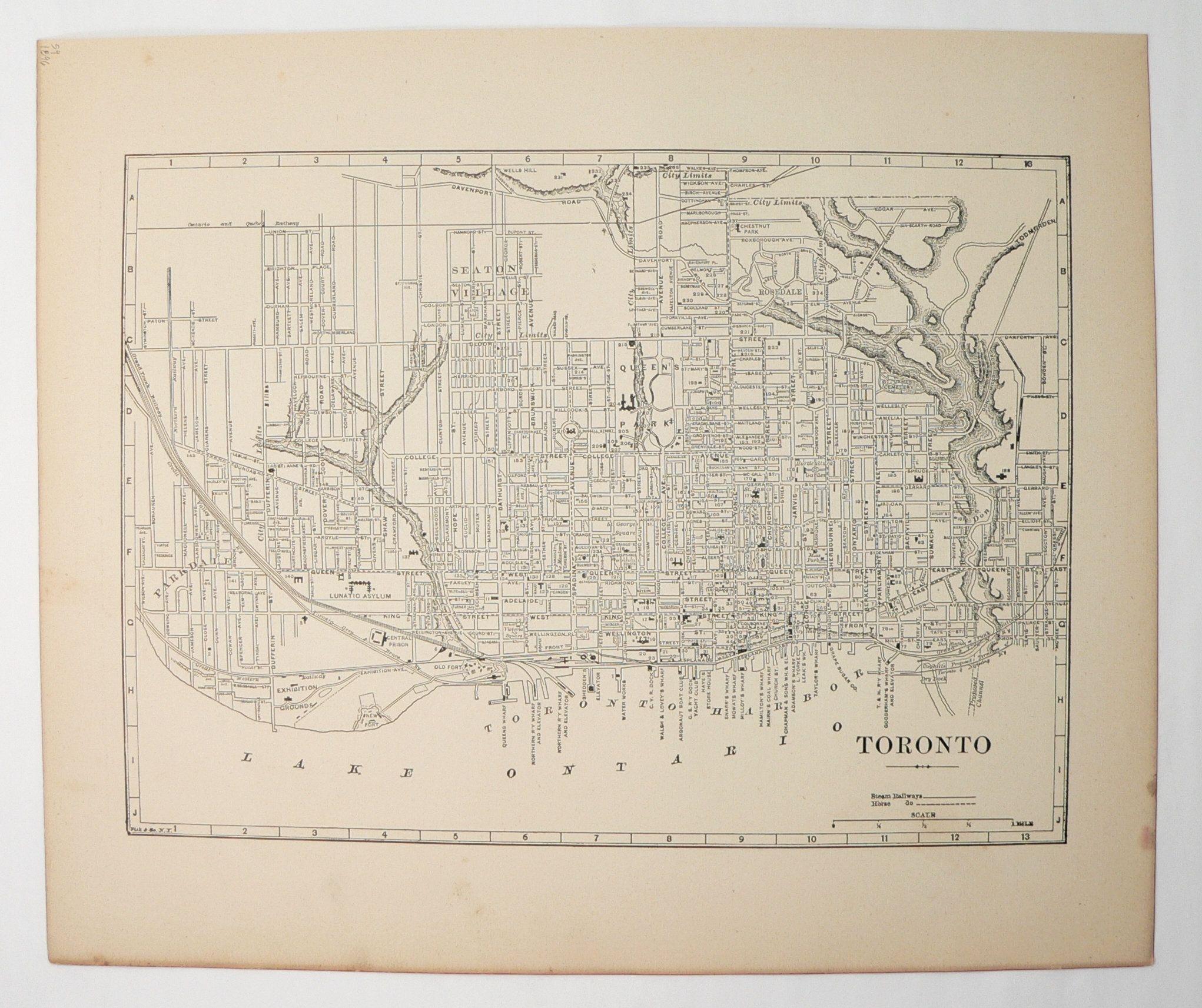 Ottawa Canada Street Map 1800s Map of Ottawa Canada, Toronto Map 1896 Antique Ottawa Map