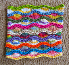 Lizard Ridge Dishcloth free Ravelry pattern