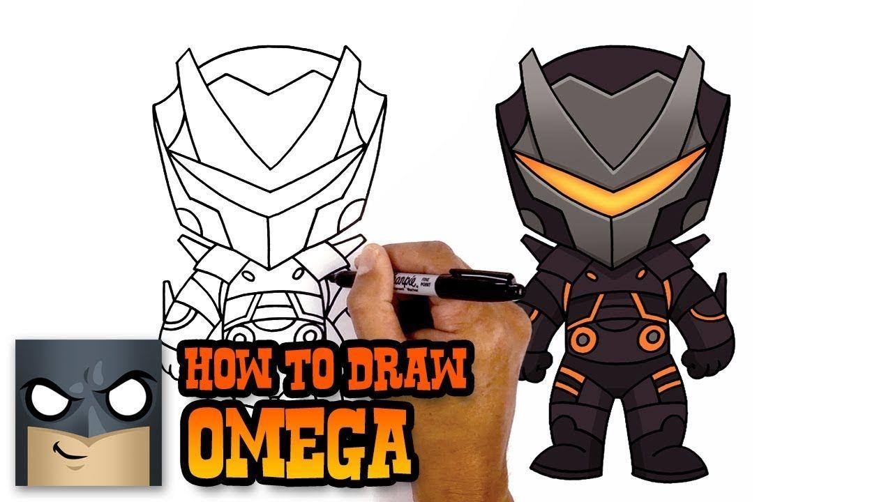 How To Draw Omega Fortnite Art Tutorial Drawings Skin