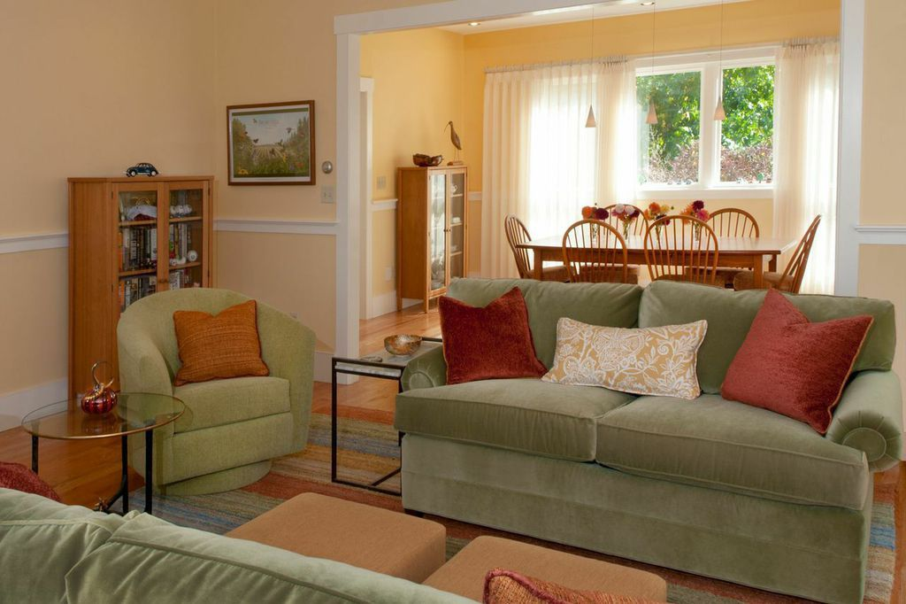 The Moss Green Sofa And Swivel Chairs Are Comfortable And Durable From The Kravet  Smart Furniture