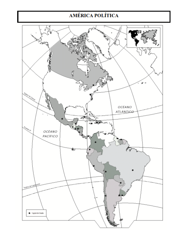 Mapas De América Para Imprimir Laclasedeptdemontse - Mapa politico ...