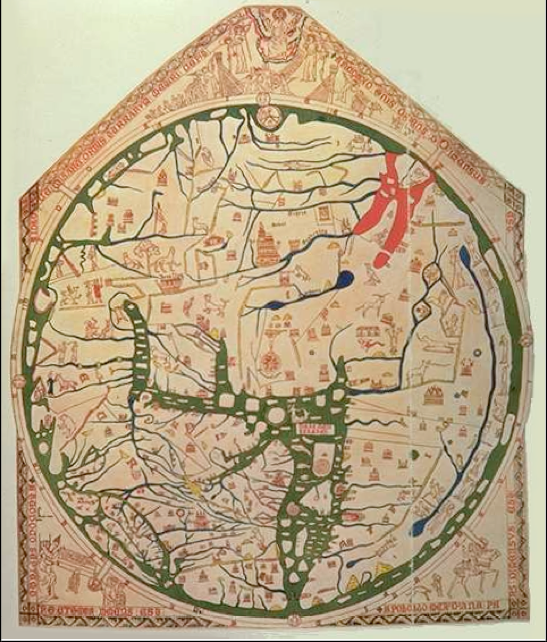 The Hereford Mappamundi Date Ca 1290 A D This Is The Largest Map Of Its Kind To Have Survived Intact And In Good Condit Cartes Anciennes Cartographie Dessin